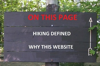 In-Page Navigation, About Hiking Page