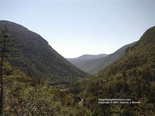 Looking south from Elephant Head into Crawford Notch