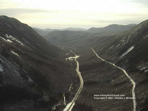 Looking south into Crawford Notch from the summit of Mount Willard
